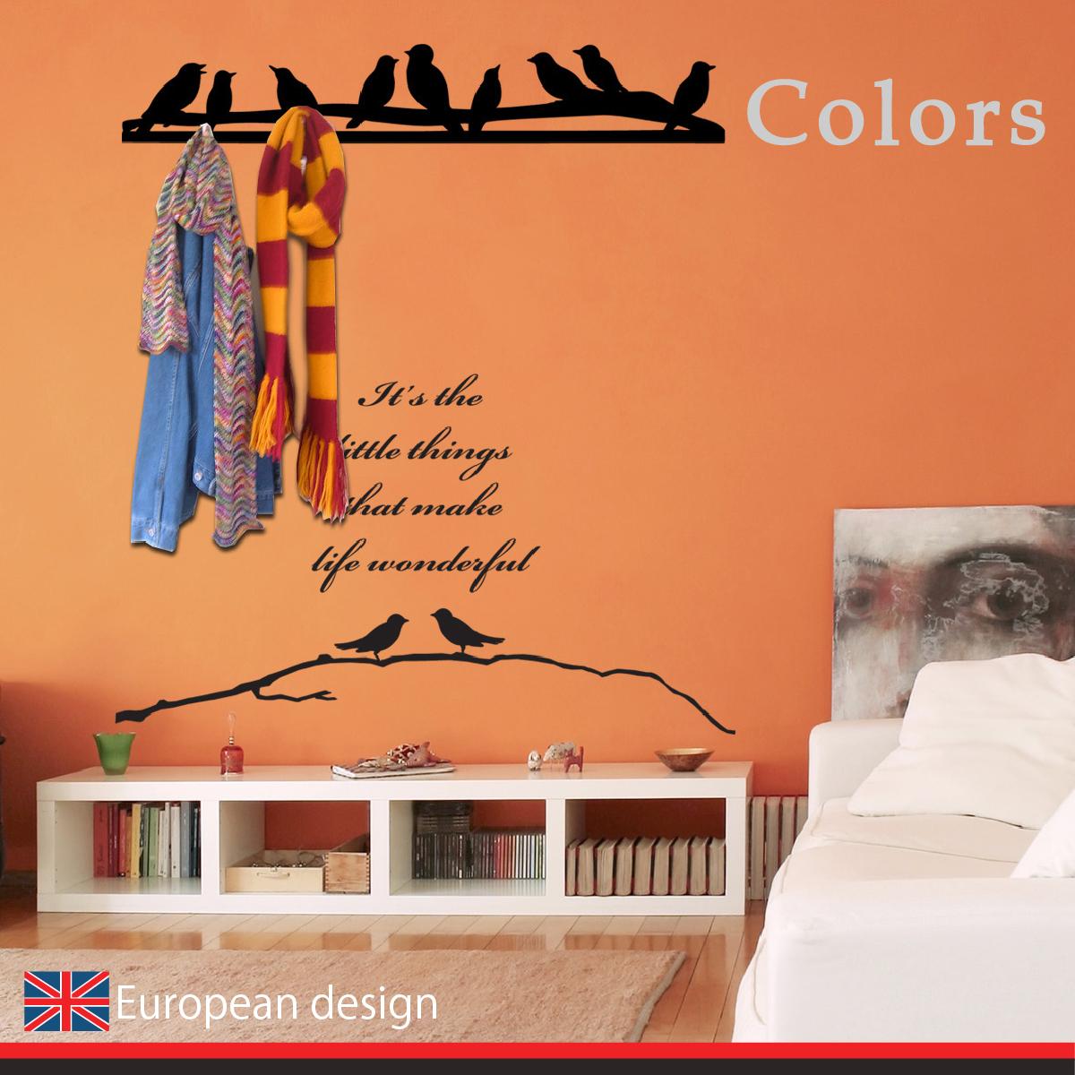 創意壁貼 【WD-004 枝頭小鳥】藝術壁貼 無毒無痕 不傷牆面 創意壁貼 英國設計 窗貼
