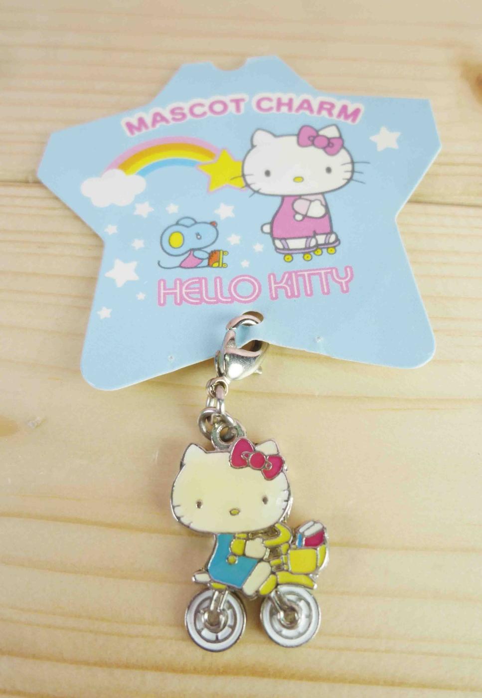 【震撼精品百貨】Hello Kitty 凱蒂貓~KITTY吊飾拉扣-聖誕系列-腳踏車