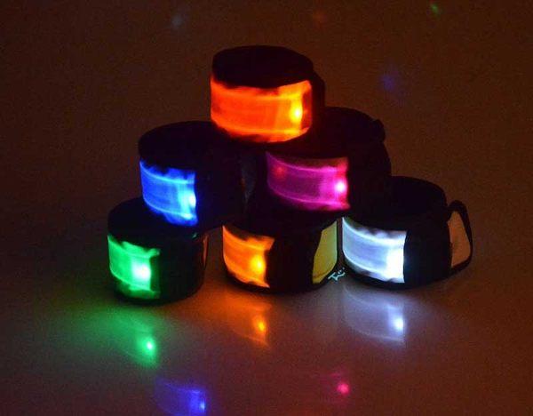 酷炫啪啪樂自捲款閃光發光LED手臂帶手腕帶運動發光手臂帶手腕帶發光手環瞎拼有理