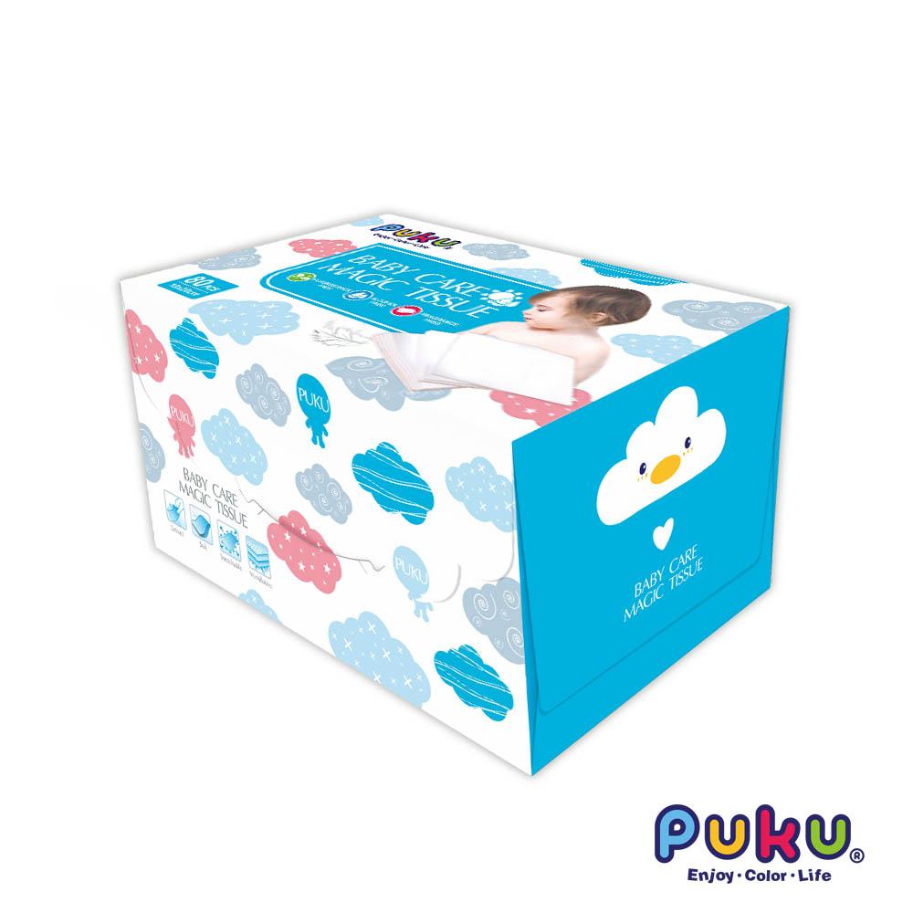 聰明媽咪-PUKU藍色企鵝嬰幼兒乾濕兩用巾