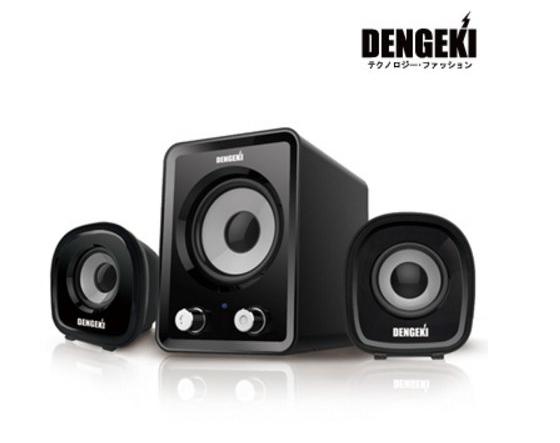 新竹超人3C電擊DENGEKI 2.1聲道USB多媒體喇叭冷光電源指示重低音與音量控制KT SKSK827