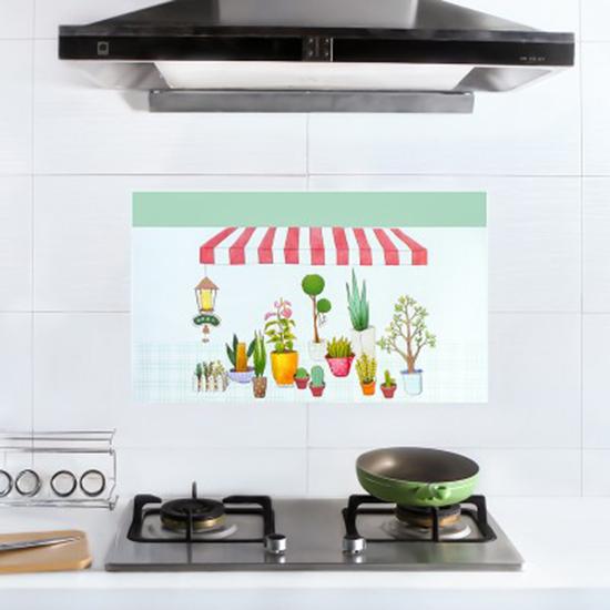 ♚MY COLOR♚自黏耐高溫防油貼紙 家用 灶台 磁磚 牆貼 廚房 防水 牆紙 防油紙【P308】