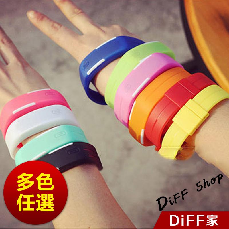 【DIFF】輕果凍色LED運動手環錶 手環 手錶  防潑水 韓版 潮流 女錶 男錶 兒童錶 糖果色