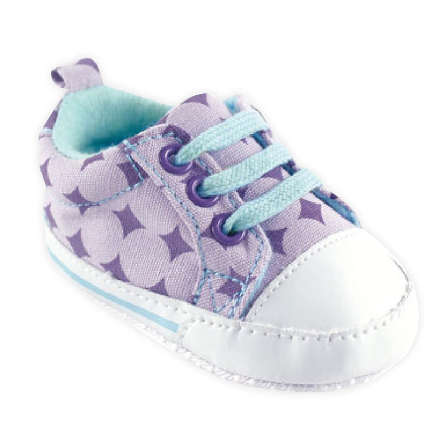 學步鞋Luvable Friends嬰兒止滑學步鞋鞋子休閒鞋嬰兒鞋水藍薰衣草方塊11326