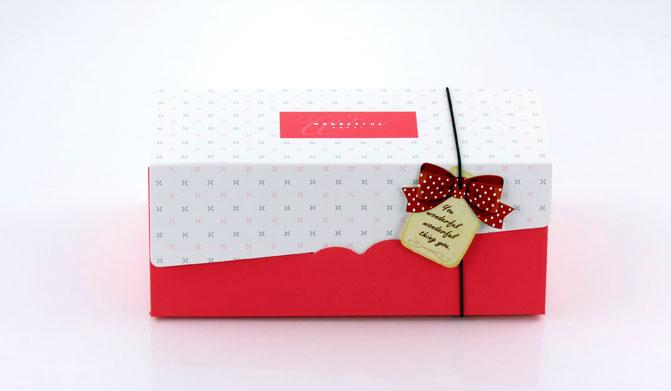 紅色19cm生乳捲蛋糕盒瑞士捲盒蛋捲盒紙盒包裝盒彌月禮盒