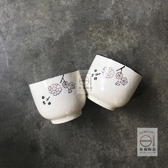 佐和陶瓷餐具批發 【82GA036大同杯(白梅)】 茶杯 手握杯 開店 精緻 送禮