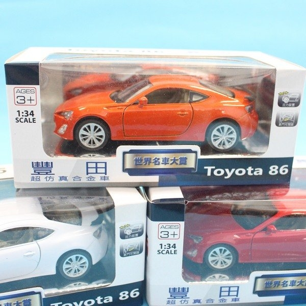 TOYOTA 豐田86 合金車 (1號白盒)/一台入{促199}1:34模型車 迴力車~生TOP311