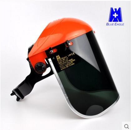 藍鷹頭戴電焊面罩焊接防護焊工面罩焊帽氬弧焊面屏眼鏡氣保焊