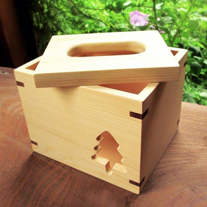 木樂館原木小樹方形衛生紙盒阿拉斯加扁柏黃檜活動式面紙盒木盒置物盒居家雜貨