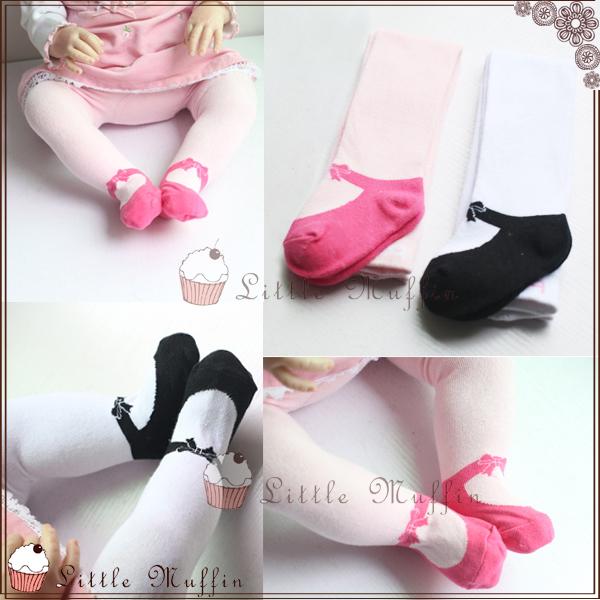 歐美蝴蝶結芭蕾舞鞋寶寶保暖連身褲襪假鞋襪保暖厚款