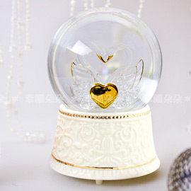 JARLL雙天鵝音樂水晶球夜燈功能-水球音樂盒.生日.情人禮.結婚禮物幸福朵朵