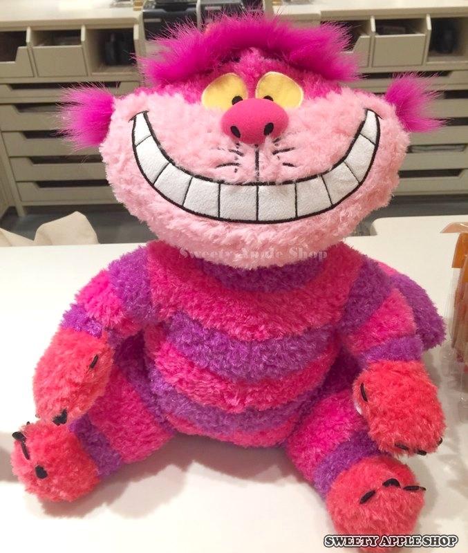 日本東京迪士尼限定愛麗絲家族柴郡貓笑笑貓絨毛玩偶娃娃東京樂園實拍