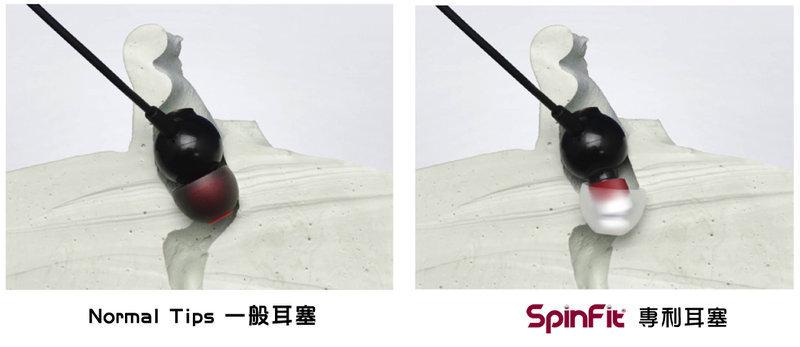SpinFit專利矽膠耳塞CP-100一卡2對適用於粗管耳機吊卡包裝My Ear台中耳機專賣店