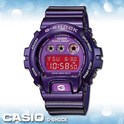CASIO手錶專賣店卡西歐G-SHOCK DW-6900CC-6D電子錶CREZY COLOR金屬紫街頭潮流防震