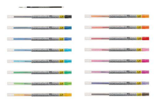 三菱UNI UMR-109-38 多色筆系列0.38中性筆替芯