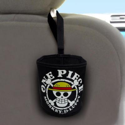車之嚴選cars go汽車用品CE110日本ONE PIECE航海王海賊王魯夫海賊旗收納置物袋掛袋