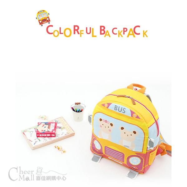 韓國圖案布-巴士熊造型後背包材料包