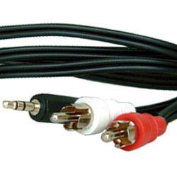 影音線3.5mm立體聲-2RCA公線 5M(裸裝) 35ST001-5