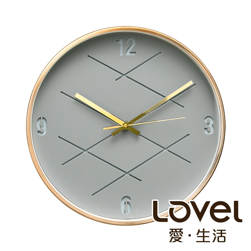 Lovel 30cm3D立體古銅金框靜音時鐘 - 共3款