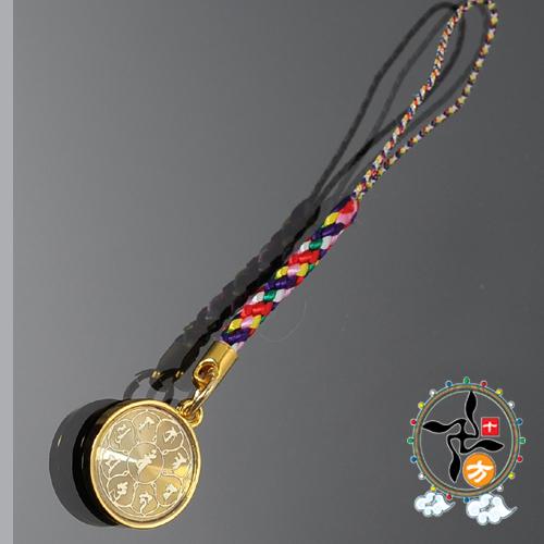 大孔雀明王咒輪五色線吊飾平安加持小佛卡十方佛教文物