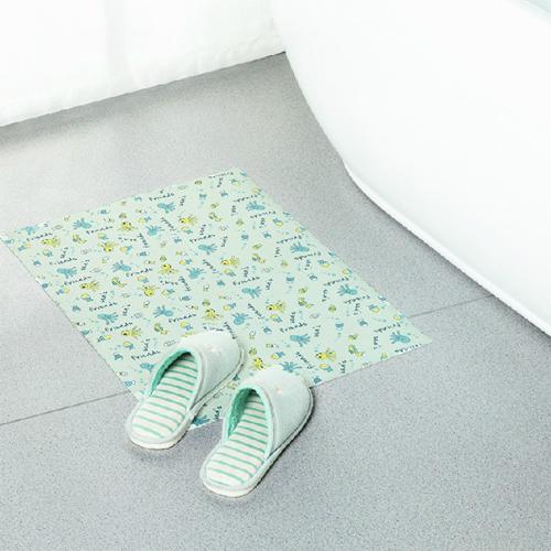 米菈生活館N339居家自黏防滑吸水地墊衛浴免膠無紡布PVC清新印花圖案安全