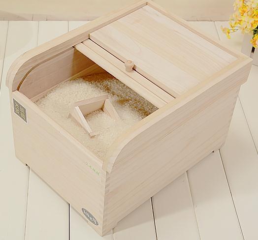 大米裝米桶實木質米盒子儲米箱30斤防潮防蟲密封5kg10kg米缸家用