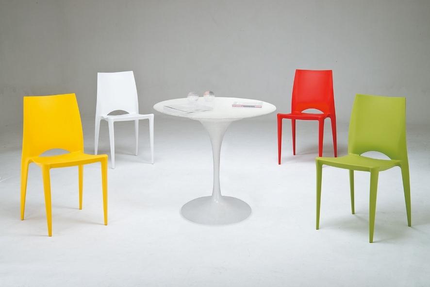 HY-745-2   香黛9605造型風格椅 / 洽談椅 / 餐椅-PP-黃色-單台