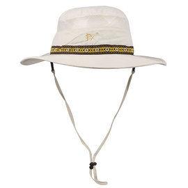 EX2中性透氣吸濕排汗快乾防曬圓盤帽UPF50卡其米白341308