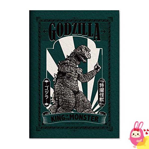 Hamee日本Godzilla哥吉拉恐龍S.H.MonsterArts筆記本學習帳綠色149-285658