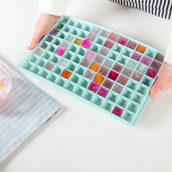 ◄ 生活家精品 ►【X53】多格冰格模具96格 冰箱 制冰盒 儲冰盒 夏暑 自製 冰塊 夏天 DIY