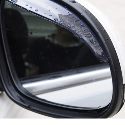 汽車後視鏡擋雨板 遮陽板 遮雨板 檔雨片 【AC0017】(3M膠) 晴雨檔 雨眉 2片裝
