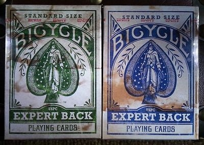 【USPCC 撲克】撲克牌 BICYCLE heritage expert back blue/green