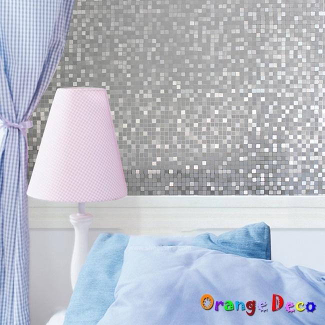 壁貼橘果設計馬賽克靜電玻璃貼45*200CM防曬抗熱無膠設計磨砂玻璃貼可重覆使用壁紙