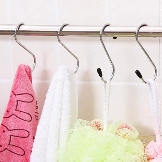MY COLOR S形不鏽鋼掛鉤廚房衛浴懸掛黏貼壁掛裝飾收納門背櫥櫃N75-1