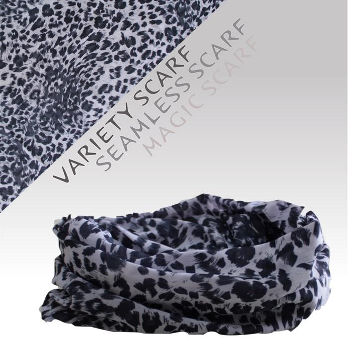 速乾吸濕排汗材質自行車頭巾魔術頭巾(1517-1 黑白豹紋)【戶外趣】