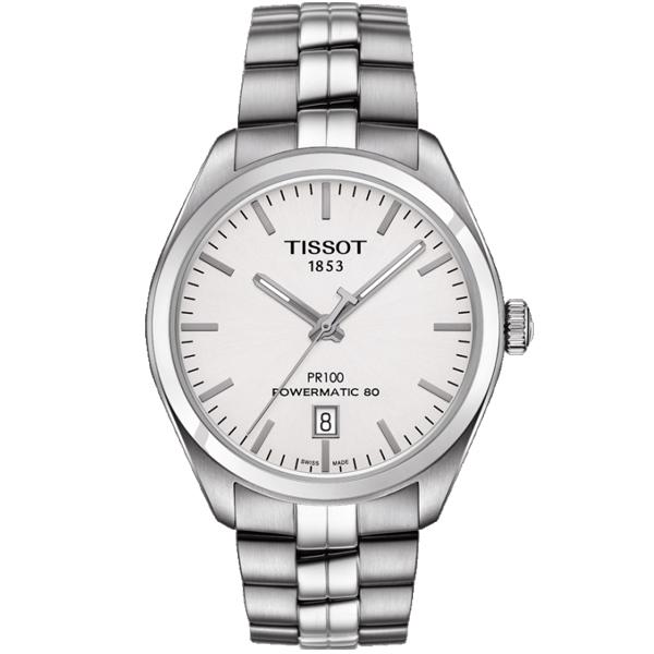 僾瑪精品TISSOT PR100簡約時尚大三針機械男錶-39mm T1014071103100
