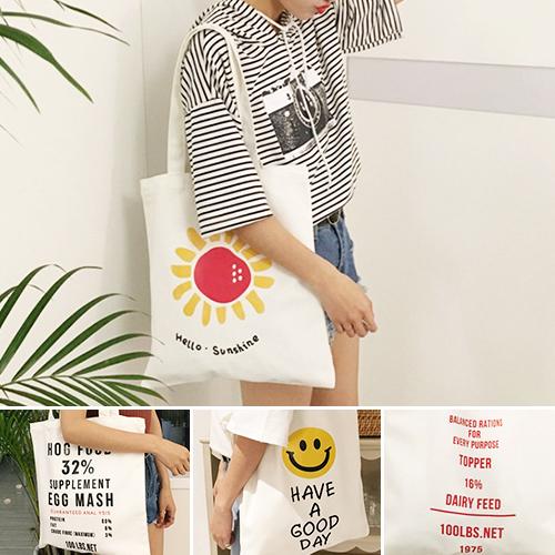 99購物節 帆布袋 手提包 帆布包 手提袋 環保購物袋--單肩【SPWJ7302】 ENTER  05/11