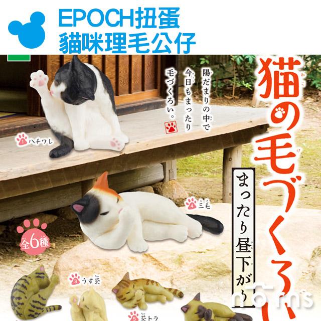 NORNS EPOCH扭蛋貓咪理毛公仔寒冷的午後篇貓咪的美容舔毛公仔玩具下午日本動物轉蛋