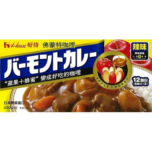 日本好侍House佛蒙特咖哩-辣味230g愛買