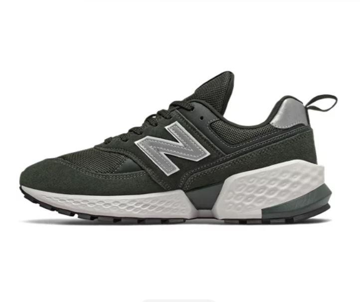 New Balance 男款綠銀色運動休閒鞋-NO.MS574ACM