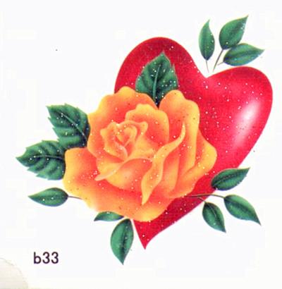薇嘉雅 愛心 超炫圖案紋身貼紙 b33