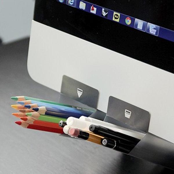 超值文具3件54折BlueCat韓國JINSELP電腦螢幕固定插袋筆筒