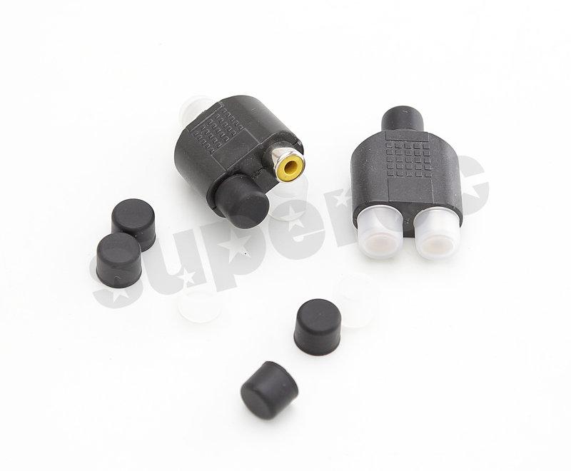 新竹超人3C 0020004 2V2 RCA AV端子梅花擴大器喇叭防氧化影音端子色差保護蓋防塵蓋