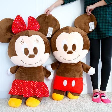 正版迪士尼米奇米妮娃娃大103cm米奇米妮布偶玩偶造型娃娃擺飾抱枕娃娃