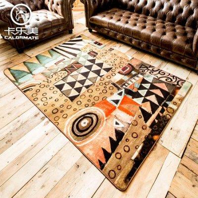幾何茶幾地毯個性薄地墊(120*170cm)【藍星居家】