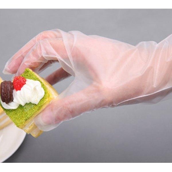 餐飲食品級一次性手套 透明手套 衛生手套 美容家務清潔衛生手套 50入【SV9506】BO雜貨