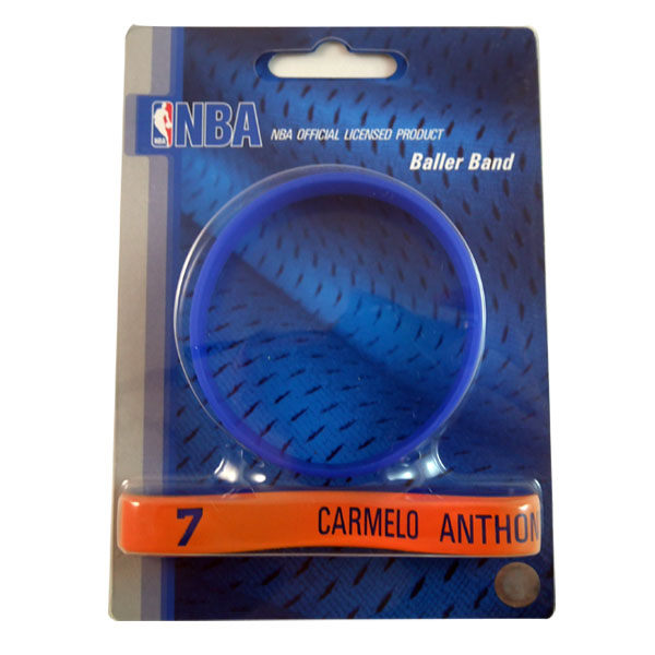 交換禮物NBA官方授權正版運動矽膠手環紐約尼克安東尼甜瓜Carmelo Anthony