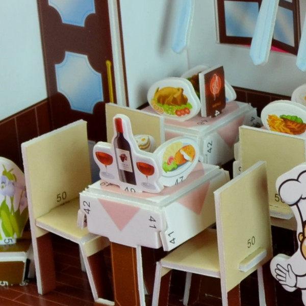 佳廷家庭親子DIY紙模型立體勞作3D立體拼圖專賣店小小實習店長義式料理店ZILIPOO智立堡