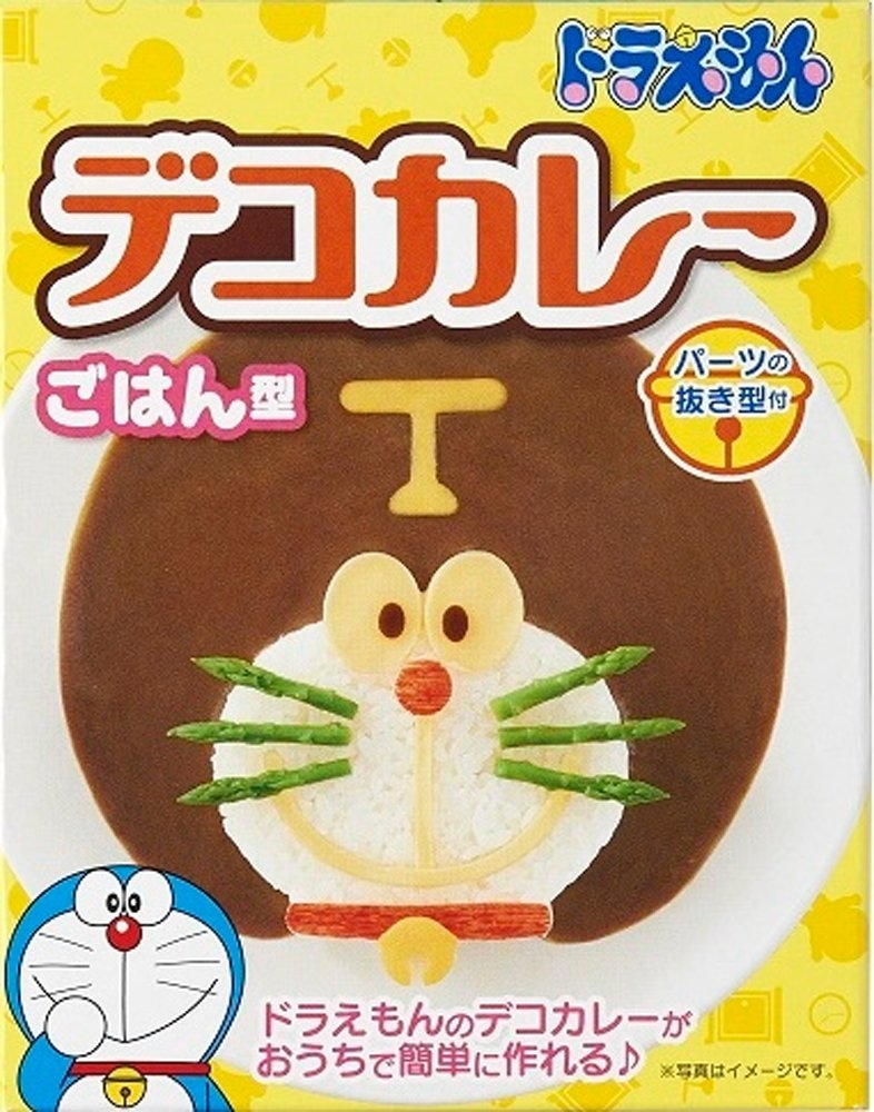 Doraemon多啦a夢_ドラえもん_造型飯糰模具_咖哩飯_燴飯模型_壓模器_日本製