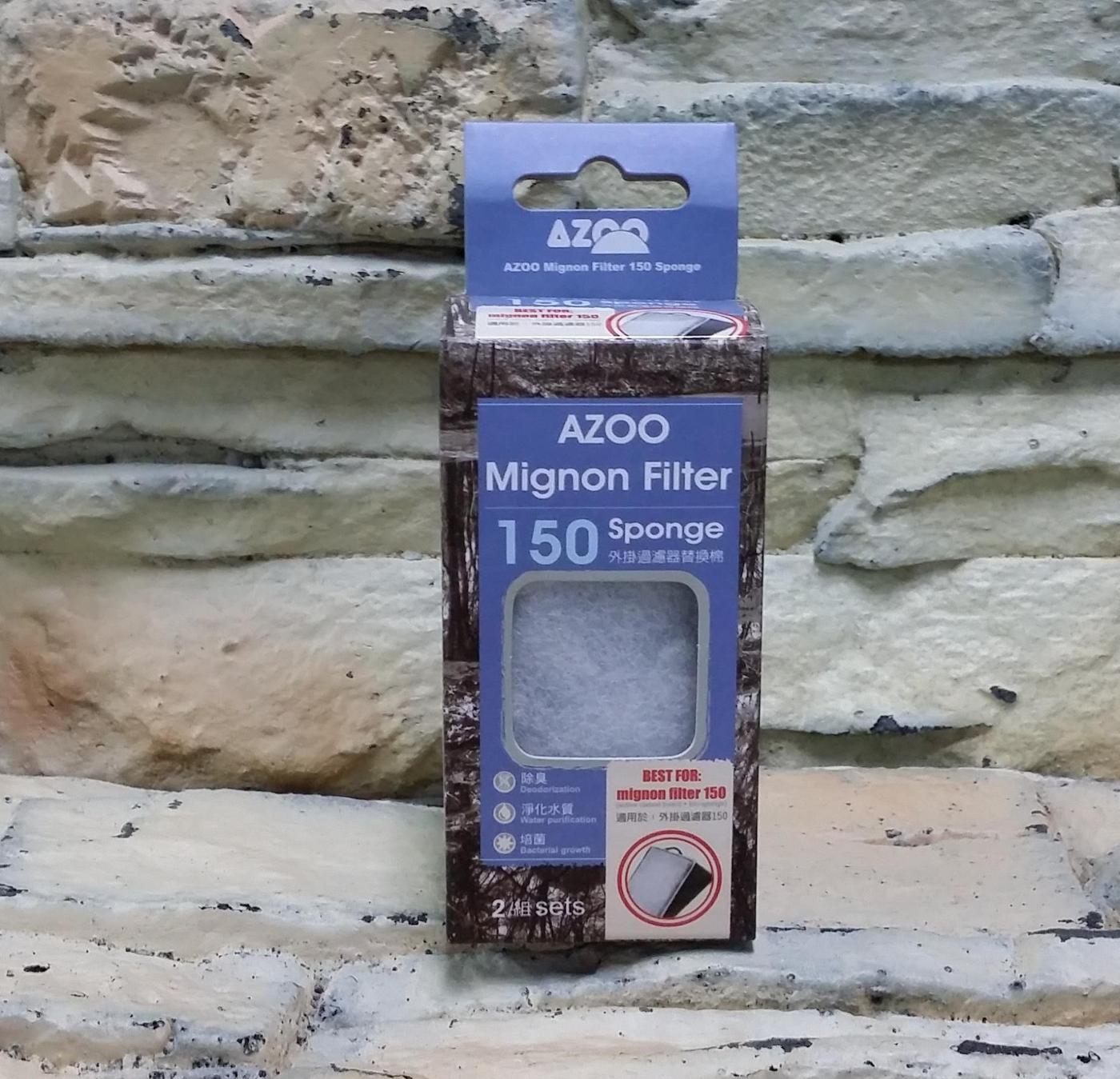 西高地水族坊AZOO愛族外掛過濾器濾材替換棉生化棉濾板150型